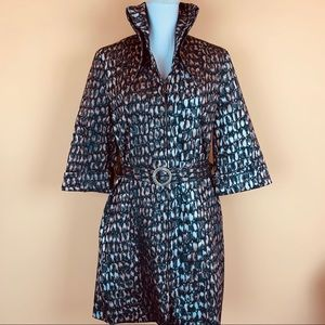 Samuel Dong coat designer trench abstract belted